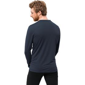Jack Wolfskin Crosstrail T-shirt à manches longues Homme, night blue